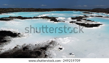 Blue Lagoon in Iceland. Reykjavik. - stock photo