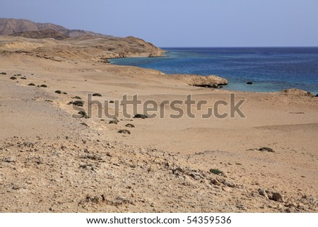 Blue lagoon island of Tiran. Red Sea. Egypt.