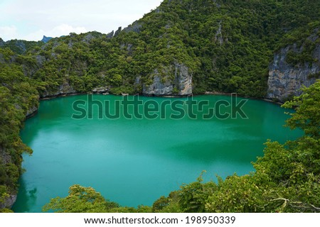 blue lagoon , Koh Samui Thailand                             - stock photo