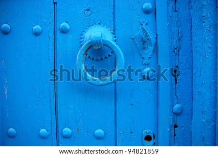 Blue Latch, Tangier - stock photo