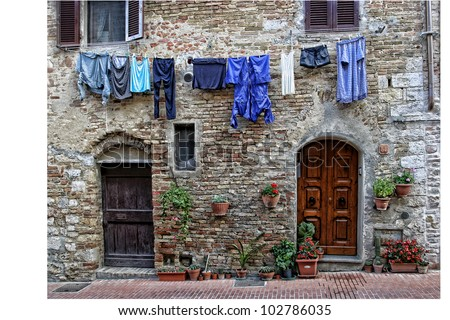 Blue Laundry in Venice, Italy