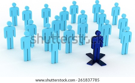 Blue leadership - stock photo