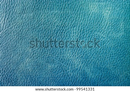 Blue leather for background usage - stock photo