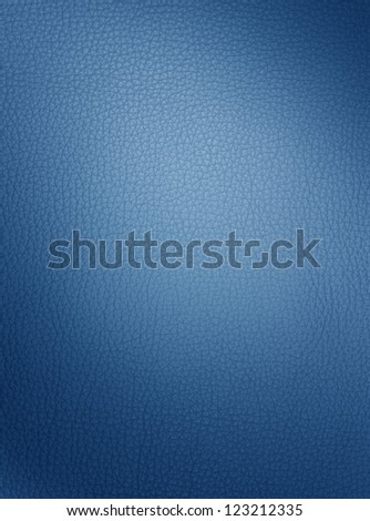 blue leather texture - stock photo