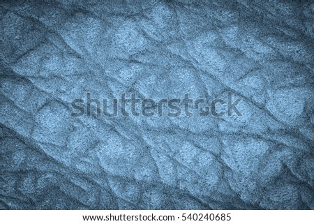 Blue leather texture background for design with copy space for text or image. Pattern of leather that occurs natural.