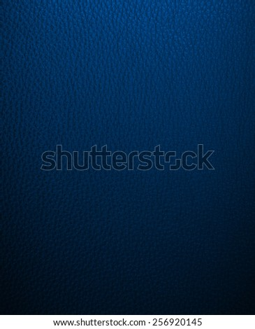 Blue leather texture closeup - stock photo