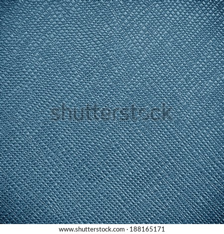 Blue leather texture for background - stock photo