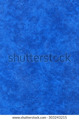 blue leatherette useful as a background - stock photo
