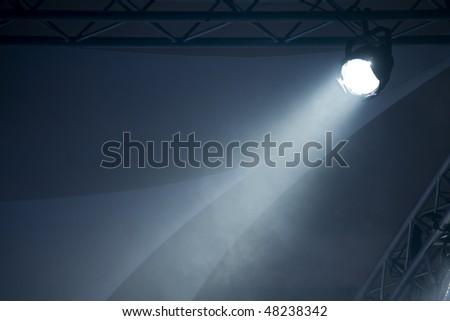 Blue Light Beam - stock photo