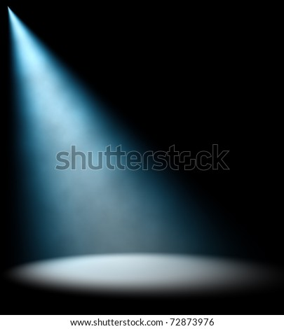 Blue Light Beam - stock photo