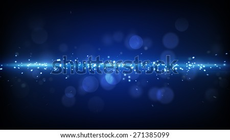 blue light stripe. computer generated futuristic abstract background - stock photo
