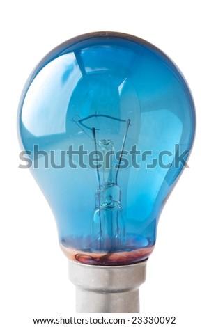 Blue lightbulb - stock photo