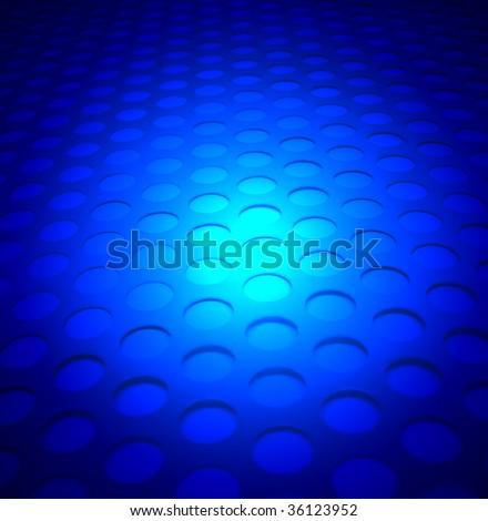 blue lighting metal background - stock photo