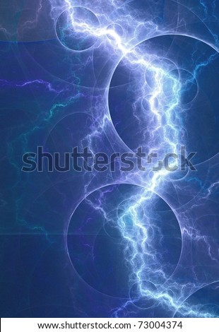 blue lightning - stock photo