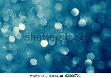 Blue lights background - stock photo