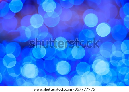 blue lights bokeh background - stock photo