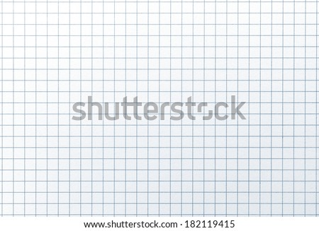 Blue line graph grid paper with highlight. Shot square to image dimension - stock photo
