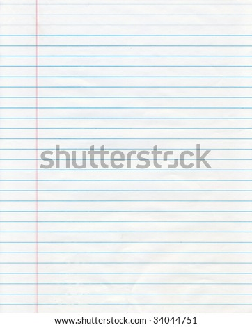 Blue Lined Paper - stock photo