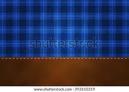 Blue Lumberjack Backdrop - stock photo