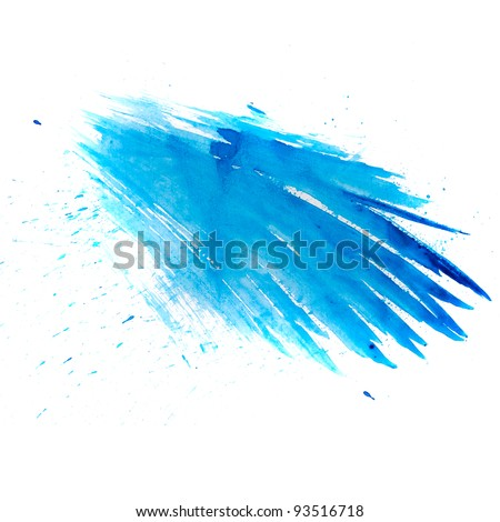 blue macro spot blotch texture isolated on a white background - stock photo