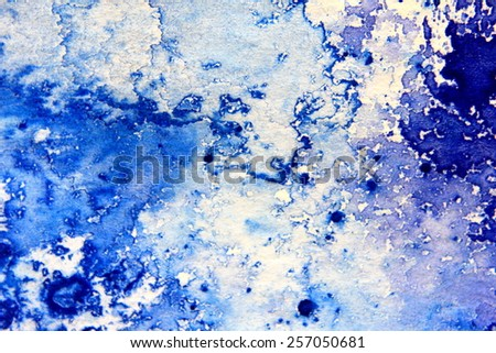 Blue Macro Watercolor 10 - stock photo