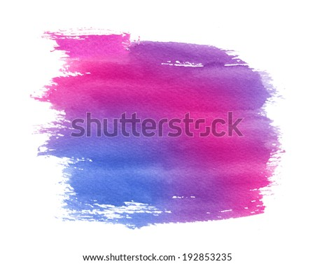 Blue-magenta aquarelle paint spot - stock photo