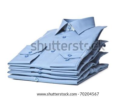 Blue man's shirt - stock photo