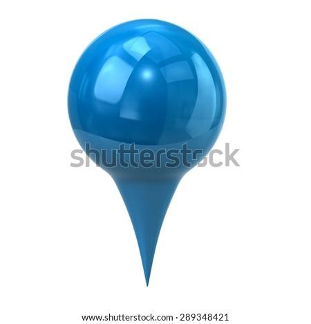 Blue map marker, map pin  - stock photo