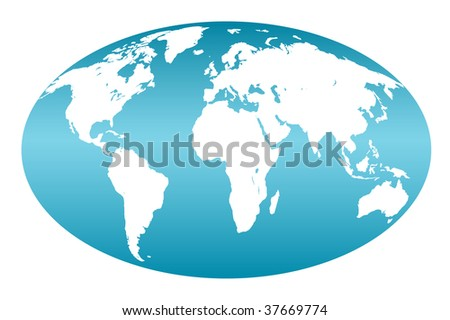 Blue map of the world on white , jpg