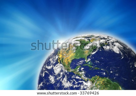 Blue Marble, photo of the earth from nasa - stock photo
