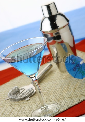 Blue Martini - stock photo