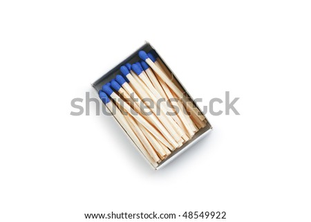 blue matches - stock photo