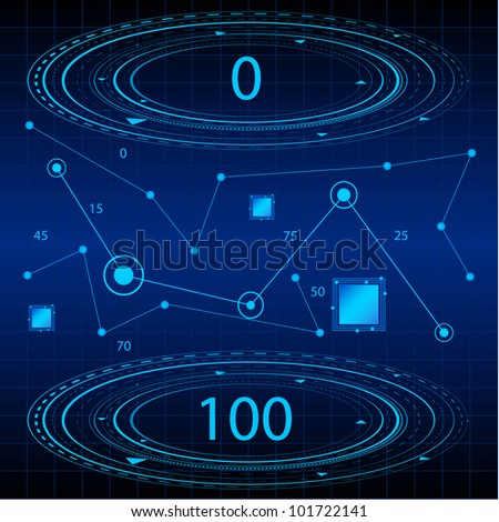 Blue Mathematical Technology Background. Eps Version Also Available In Gallery. - stock photo