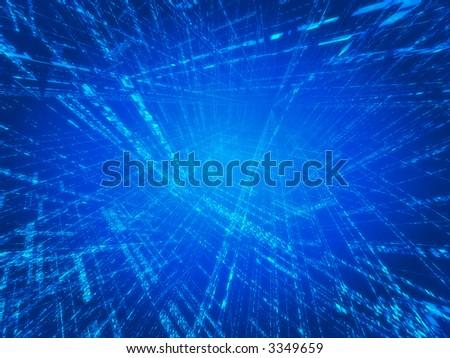 blue matrix - stock photo