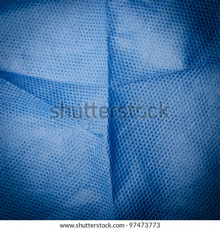 blue medical nonwoven fabric cloth ditail texture - stock photo