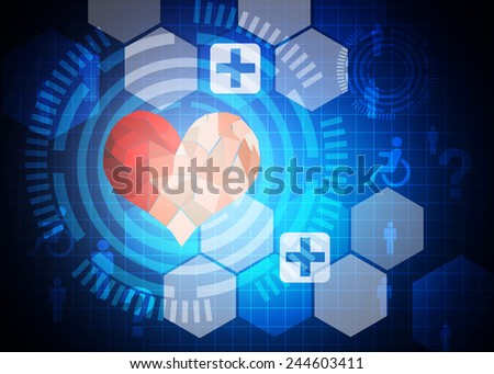 Blue medical or science background