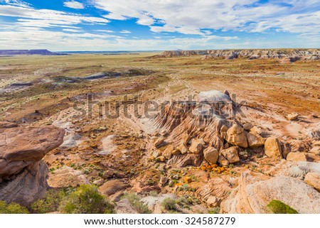 Blue Mesa, Petrified Forest National Park, AZ - stock photo