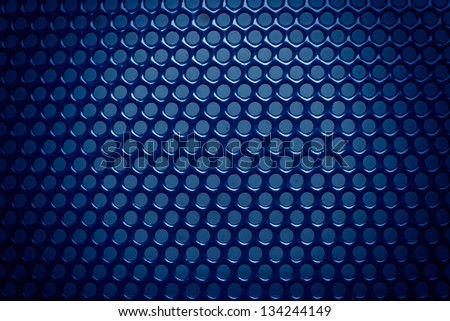 blue metal background with light reflection i - stock photo