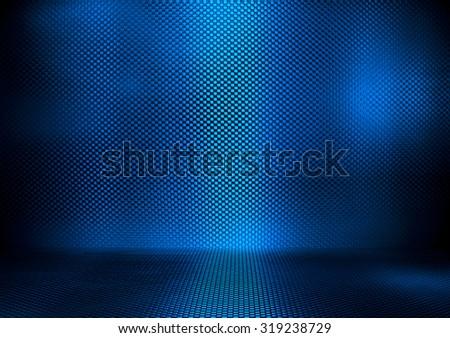 blue metal interior background - stock photo