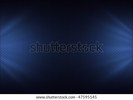Blue Metal Plating & light ray - stock photo