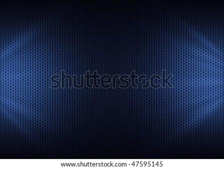 Blue Metal Plating & light ray - stock photo