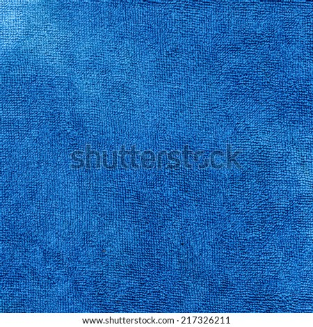 Blue Microfiber Textile Surface high resolution scan - stock photo
