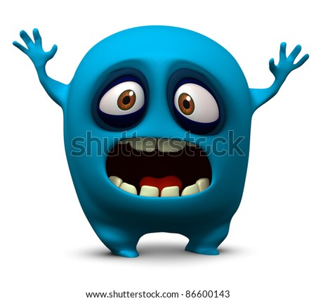 blue monster - stock photo