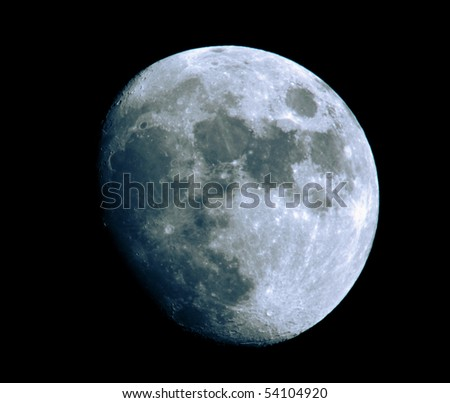 blue moon - stock photo