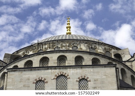 Blue Mosque in Istanbul - Turkey, details