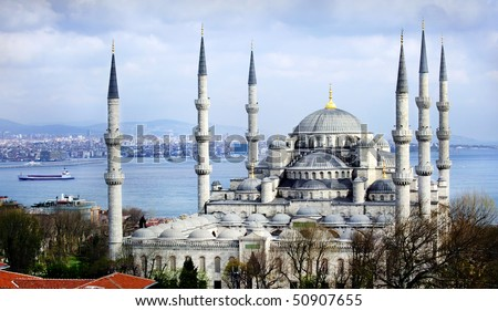 Blue mosque Istanbul - stock photo