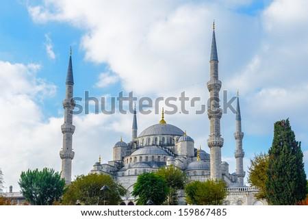 Blue Mosque, Istanbul, Turkey. - stock photo