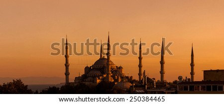 Blue mosque Istanbul Turkey - stock photo