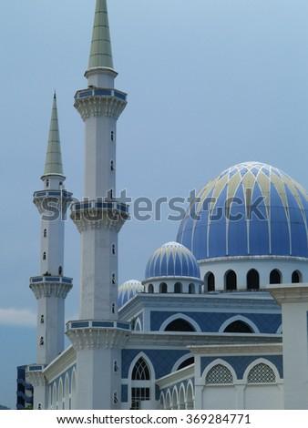 Blue mosque, Kuantan, Malaysia - stock photo