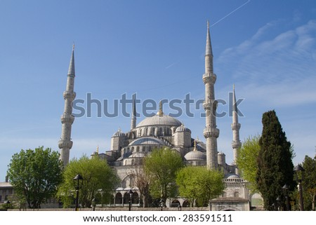 Blue Mosque, Sultan Ahmed Mosque, Istanbul, Turkey - stock photo